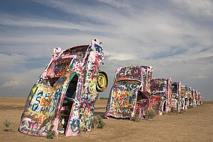 Cadillac Ranch, Route 66, Amarillo