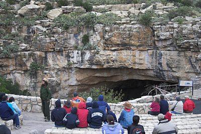 Bat Show mit Rangerin im Carlsbad Caverns National Park