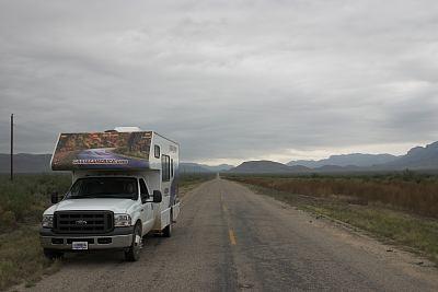 Fahrt Richtung Guadalupe Mountains