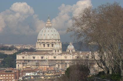Blick vom Gianocolo auf den Petersdom