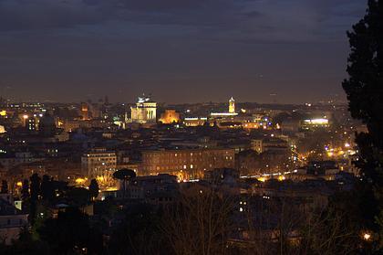 Blick vom Gianocolo auf das abendliche Rom
