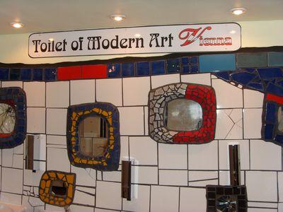 Toiletten im Hundertwasser Village