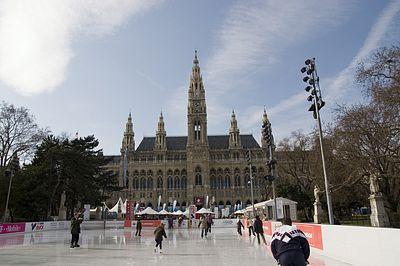 Eistraum vor dem Rathaus